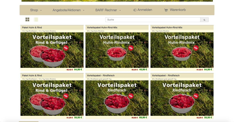 Frostfutter Plauen Screenshot Angebot